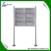 double 4 layer outdoor stainless steel free standing mailbox letterbox postbox with stand