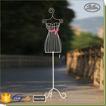 Window Decoration White Metal Upper-Body Mannequin With Metal Stands
