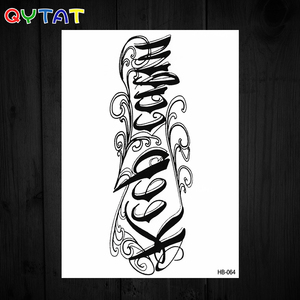 Customized Size & Design Disposable Water Based Temporary Stickers Neck Tattoos