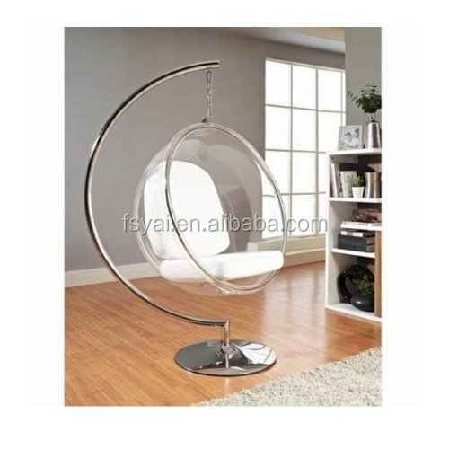 High quality living room furniture bubble acrylic ball hanging chairs for sale