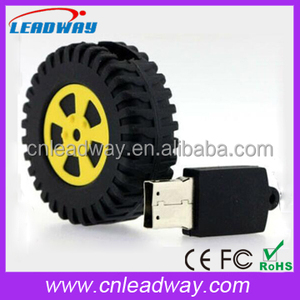 Wheel USB Flash Drive Yellow Tire Memory Stick for Car Company
