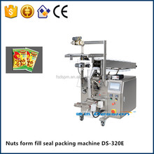 Low cost semi automatic vertical form fill seal nuts food bag packing machine manufacturer price