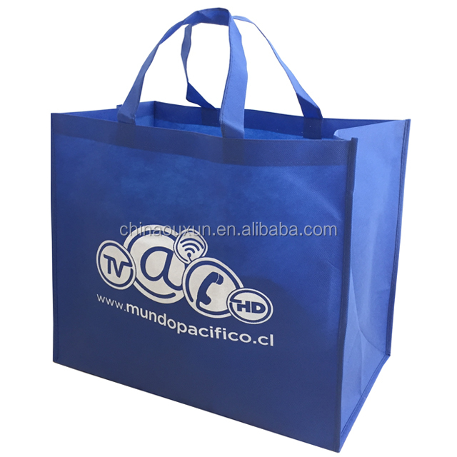 Wholesale custom printed promotional pp non-woven tote shopping bags