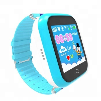 Hot product touch screen sos call anti-Lost gps wifi tracker kids smart baby watch phone q100