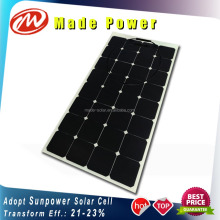 100Wp 16v high efficiency Sunpower solar cell ETFE semi flexible solar panels