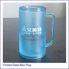 2014 Best Promotion Frosted Glass Beer Mug