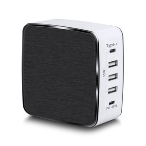KC 60w 5ports USB type C fast pd wall laptop charger,desktop type-c charger