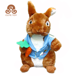 Custom Peter Rabbit wholesale cute soft plush toys bunny with carrot