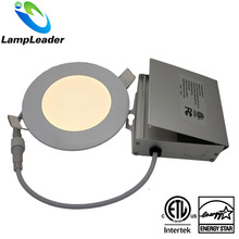 Energy Star 5Years Quality Guarantee ceiling recessed 12w 15W 6 inch led flat panel wall light with certified junction box