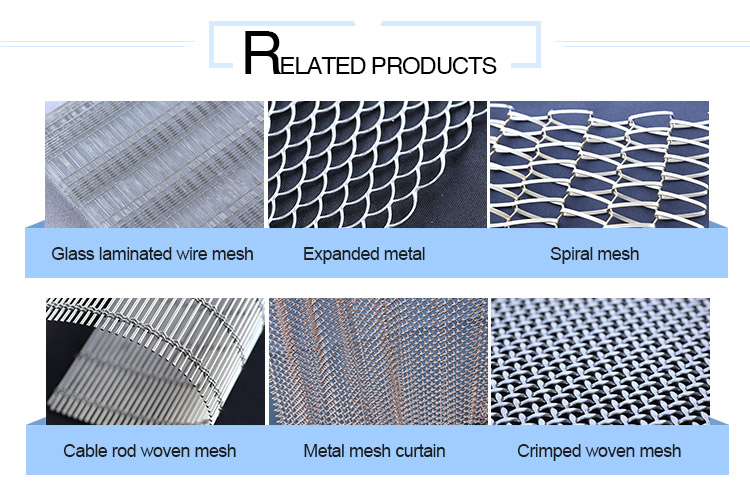 Safe and Security Stainless Steel Decorative Wire Rope Mesh for Office Buildings