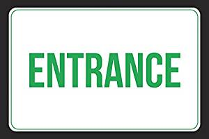 Employee Entrance Only Sign  Business Door Signs Aluminum Metal White