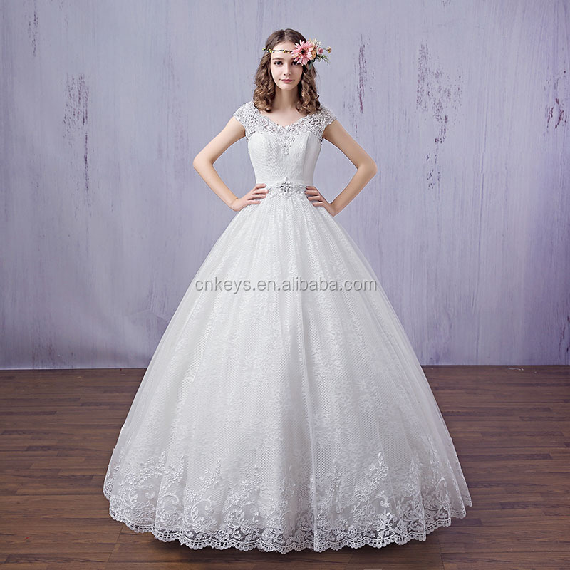 K1657A 2017 Sayang Beaded Lace Appliqued Princess Wedding Dresses Bridal Ball Gown