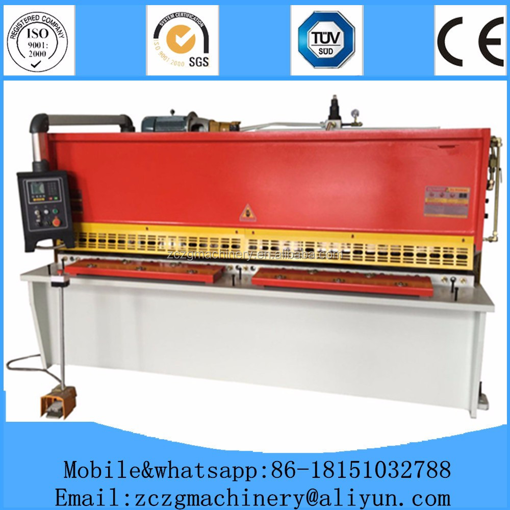 certification shearing machine/ hydraulic cutters saw machine QC12K 8*3200mm
