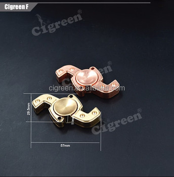 cigreen f brass material fidget spinner toy hand spinner fidget toy