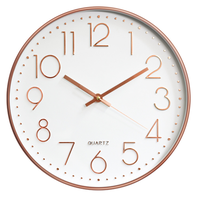 2019 Amazon Hot Sale New Product 12 inch 30cm Injection Color Plastic Round Silent Wall Clock Home Decoration Tool Supplies