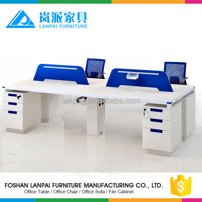 Novel design factory wood office desk,fashion staff open workstation with screen