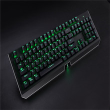 Led mechanical wired double injection RGB Rainbow Keyboard computer gaming keyboard