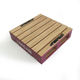 Special design square shape rustic wooden coaster for cup use