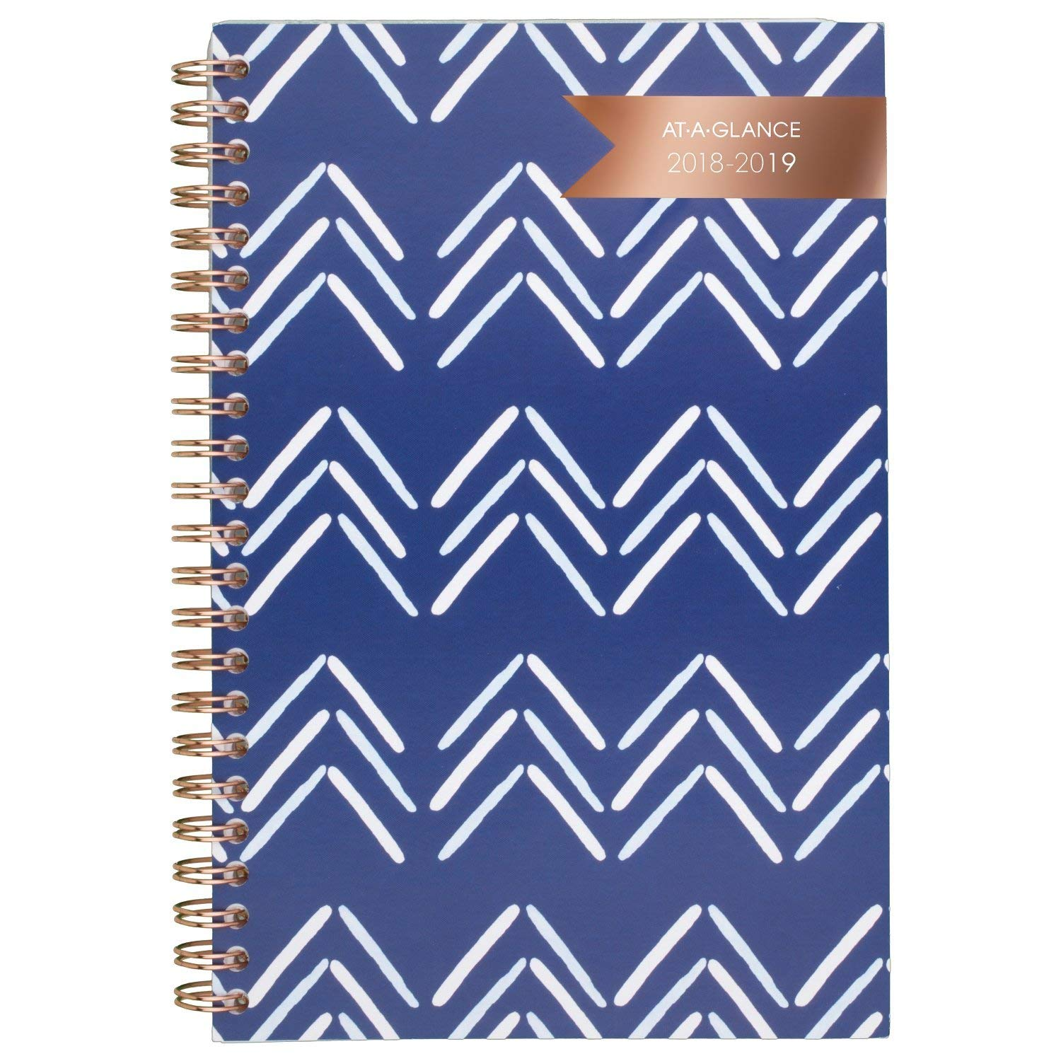 AT-A-GLANCE 2018-2019 Academic Year Weekly & Monthly Planner, Small, 4-7/8 x 8, Carousel Chevron (1112C-200A)