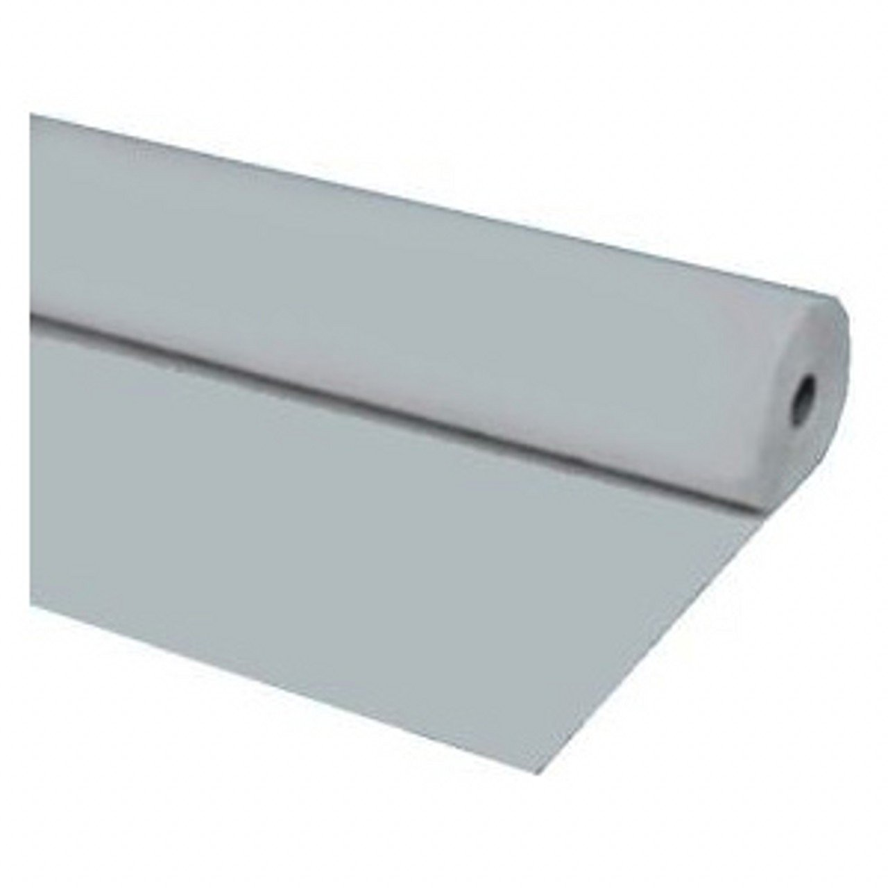 """Silver 40"""" X 300 Ft Economy Banquet Roll Plastic Table Cloth"""