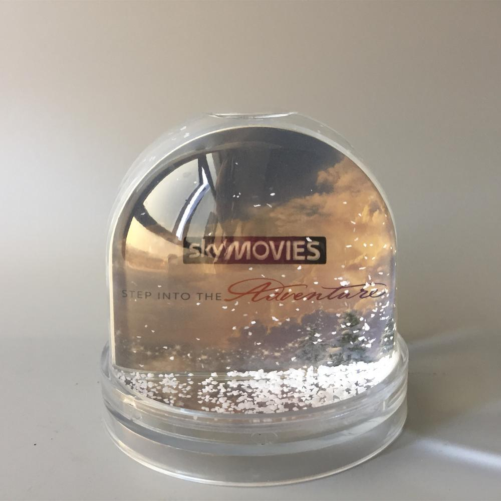 Promotional photo snow globe picture frame snow ball for Christmas without water