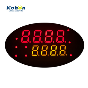 Custom segment display 8 digits anode 7 segment led red&yellow color