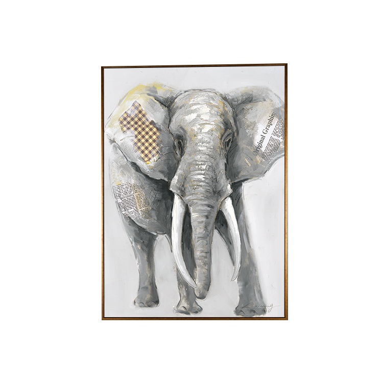 Elephant dog deer frame bedroom living room show 3D Decorative Frame Art Picture Inkjet Printing Canvas