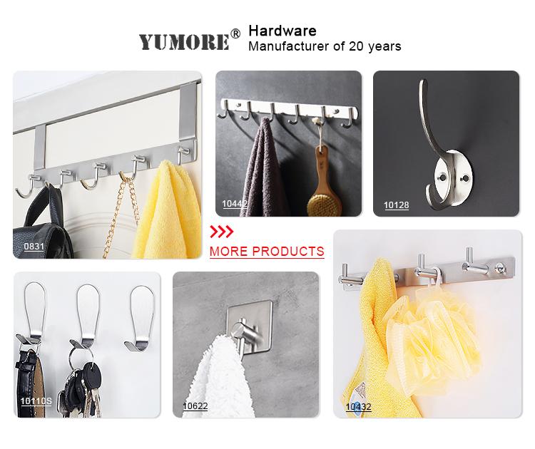 Hot Sale 3 Hooks-8 Hooks Popular Design Bathroom Wall Mounted Coat Hook