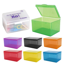 Pocket office desktop flip open cover frosted afwerking Plastic kubus vierkante doos document file briefpapier <span class=keywords><strong>papier</strong></span> notities clip case