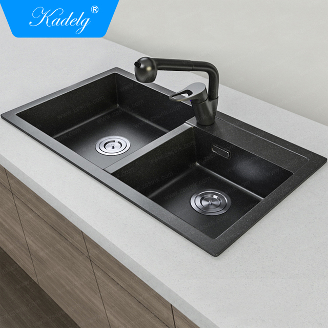 2018 Undermount Composite Granite Double Bowl Kitchen Sink Prices In India  - Buy Granite Kitchen Sink,Kitchen Sink Prices In India,Sink Kitchen Double  ...