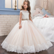 2017 New designs baby girl princess dress beaded flower dress in summer