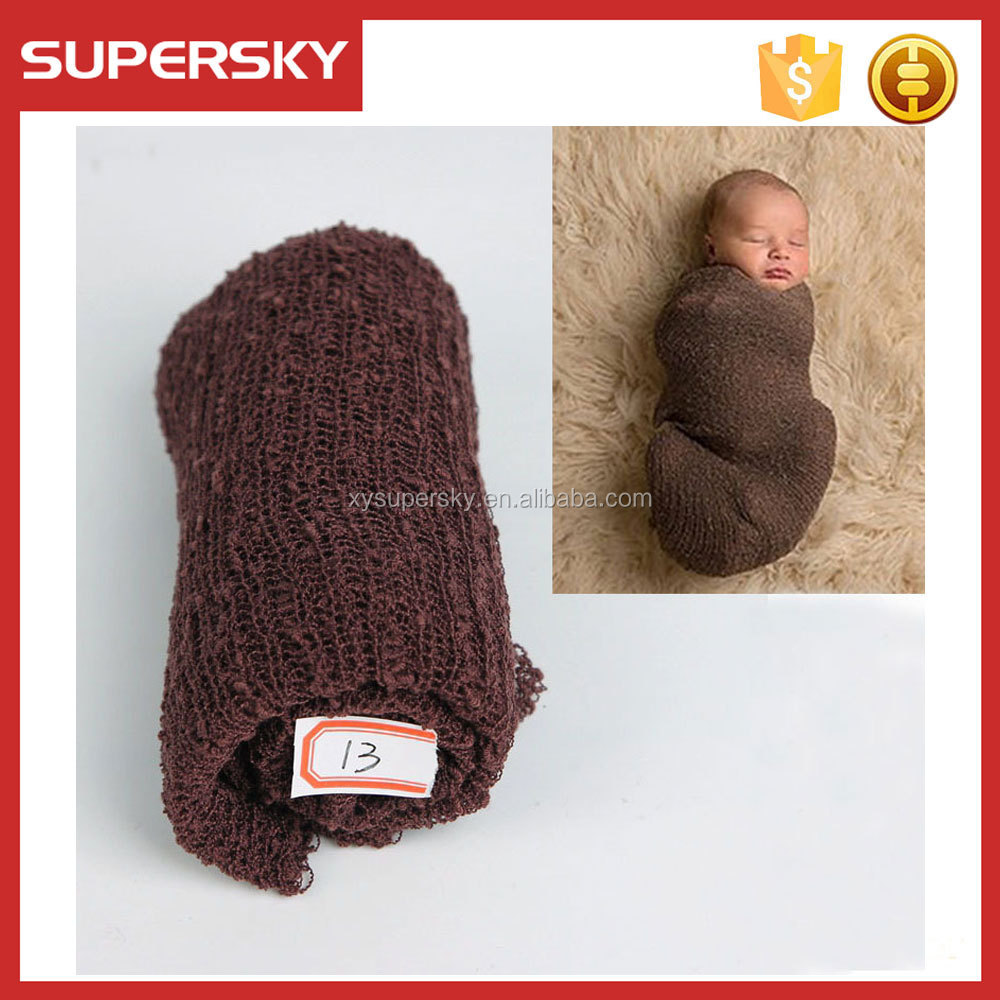 T7-4 Baby Boy Stretch Knit Newborn Baby Wrap Rayon Stretch Wrap Props