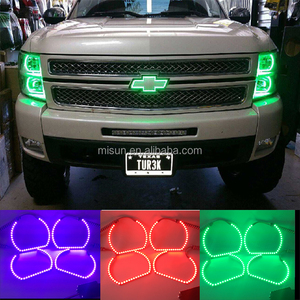 silverado led driving lights led angel eyes halo kits