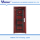 Low price and popular steel wood armored security door