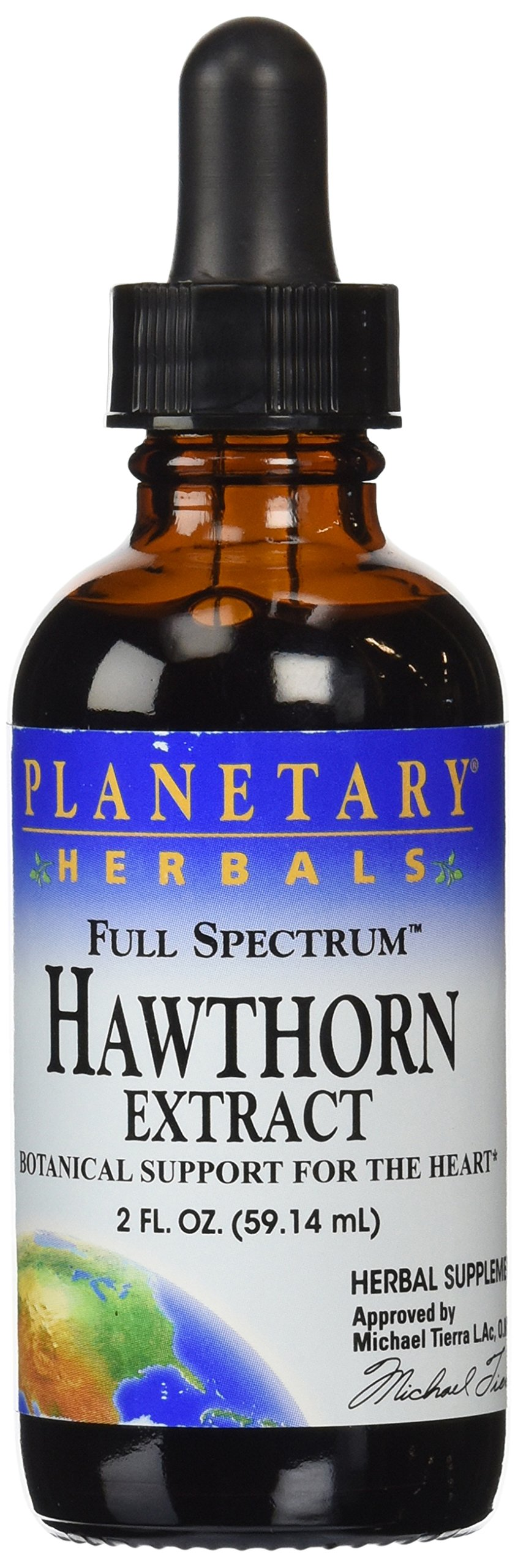 Planetary Herbals Full Spectrum Hawthorn Liquid Extract Supplement, 2 Fluid Ounce