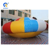 Most popular high quality inflatable disco boat towable water obstacle course