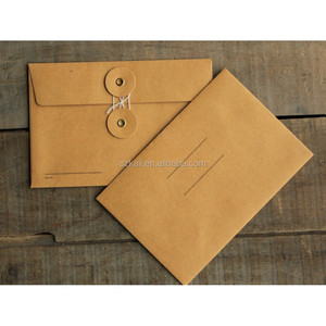 Hot sell good quality kraft string tie envelope