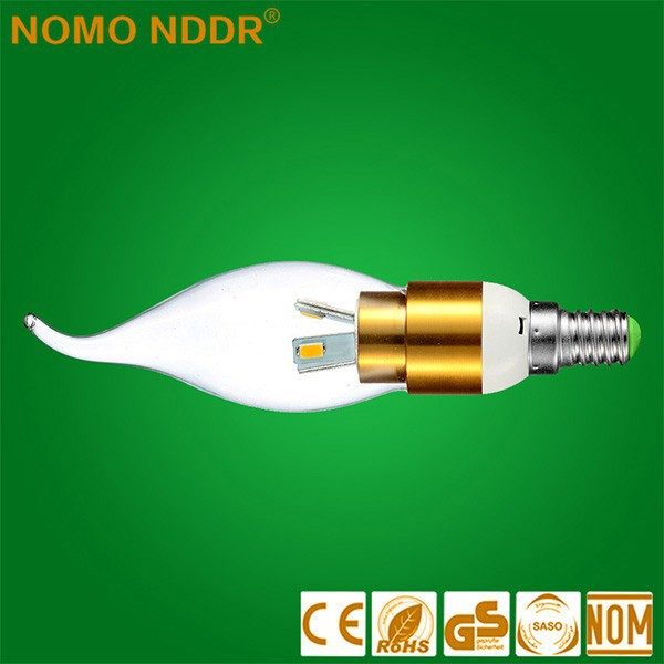 2016 stock price china factory direct sale SMD 2835 3W LED candle lighitng bulb ,indoor lighting