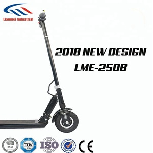two wheel electric scooter adult use 8 inch 250w big pedal design 2018 new LME-250B