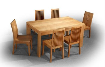 chineseash solid wood dining room table and chairs for