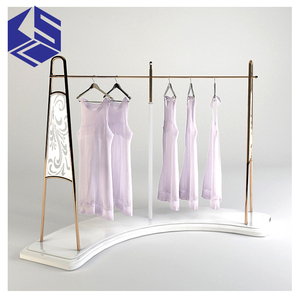 KSL Modern Luxury Cabinet for curved shelf display/portable t-shirt floor display stand