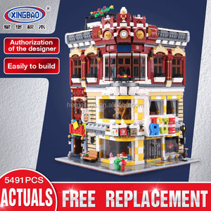 XINBAO 01006 Block 5491Pcs Creative MOC City Series The Toys and Bookstore Set Building Blocks Bricks Toy Model Gift