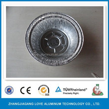 0.07mm Disposable Aluminum Foil Round Bowl For Food Package Round Bowl