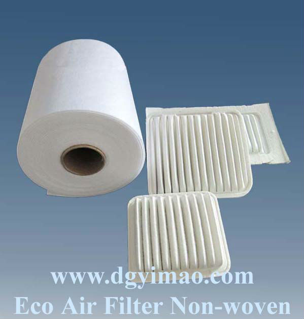 High dust holding non woven filter cloth for car air filter/filter material/ filter media