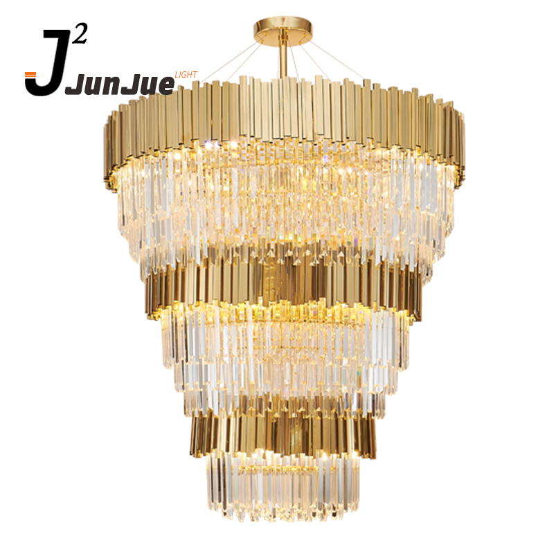 Modern hotel lobby luxury crystal hanging light big k9 crystal chandelier lighting made in china