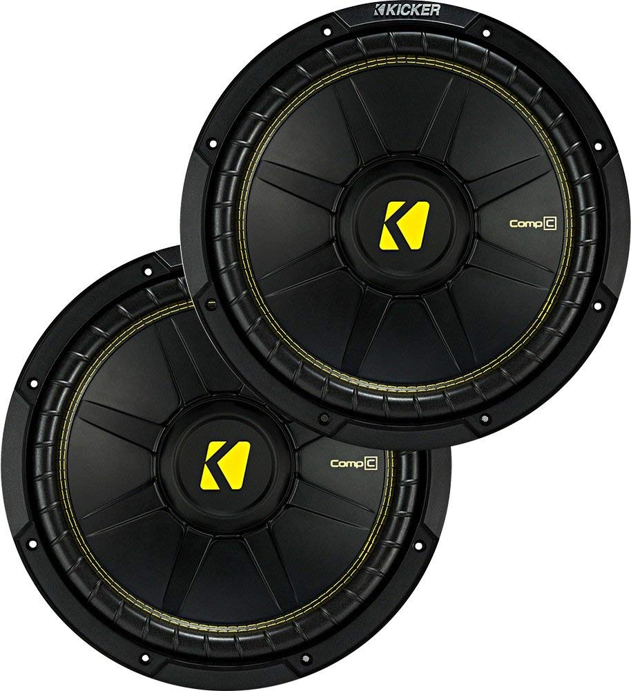 "Kicker Bundle of 2 Items: Two 44CWCS104 10"" CompC Series Car Subwoofers"