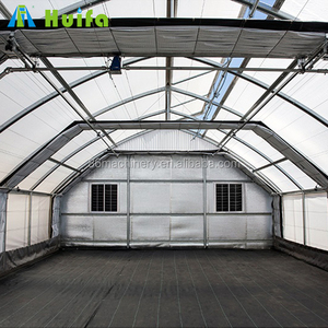 Single Span PE Material and Single Layer Blackout Greenhouse for Mushroom Growing