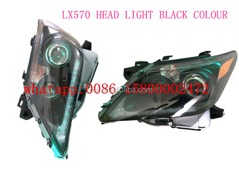 Black smoke colour modified head light head lamp for Toyota Lexus LX570 new model