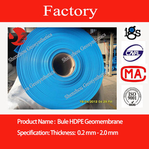HDPE blue geomembrane, blue pond liner, blue film