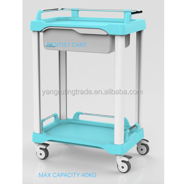 YRT-T05-4 Medical Dental ABS treatment trolley vehicle cart with one drawer